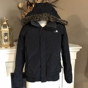 The North Face Black Down Bomber Girls